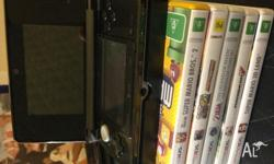 AS NEW Cosmos Black Nintendo 3ds (w/ charge pad and
