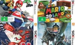 Nintendo 3DS Games:Pokemon Y,Mario Kart,Super