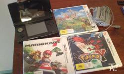 Excellent condition black Nintendo 3DS console with 3