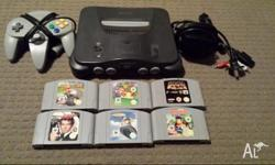 Nintendo 64 in good working condition with all leads