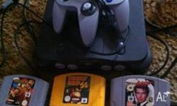 Nintendo 64 Console, remote and 5 games including