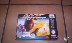 Nintendo 64 Game 007 The World is Not Enough Boxed