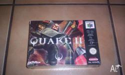 Nintendo 64 Game Quake 2 Boxed Brand New (Sealed)
