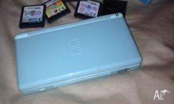 Nintendo DS blue. Good condition. Comes with purr pals,