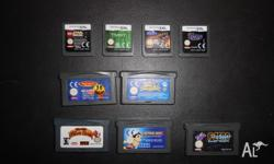 4 DS games and 5 Gameboy Advance games, all playable on