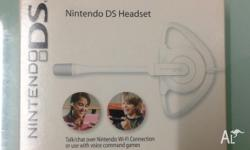 Up for sale is a BRAND NEW Nintendo DS Headset FOR the