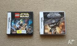 We have 2 DS Star Wars games for sale. Star Wars