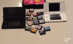 2 DSI's 1 black 1 white and 15 games! We don't have