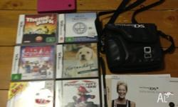 Nintendo DSI Pink for sale! Comes with 6 games, a case