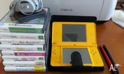 Nintendo DSi XL for sale in excellent condition, plus 8