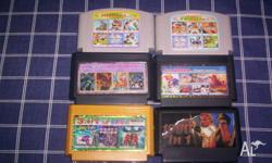 Nintendo Famicom Multi Game Cartridges x 6 All in Good
