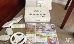 NINTENDO Wii CONSOLE, WITH BOOK & ALL CORDS INCL SENSOR