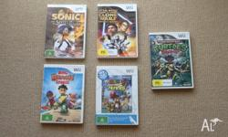 We have 5 Wii games for sale. All in original boxes and