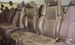 nissan 300zx blackleather front seats crack in drivers