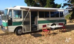 A motor home in fantastic condition and set up
