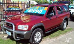 NISSAN,PATHFINDER,2000, 4WD, maroon/silver, 4D WAGON,