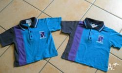 North Lakes State College Uniforms, Size 2. 2 polo