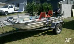 2002 12' Norweld Punt with 2006 15Hp Mercury S/S prop,
