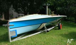 Boat on dolly in excellent condition. Sails gc used.