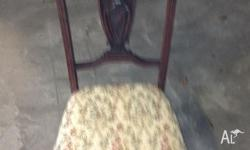 nursing chair 1860s carved mahogany timber on castors