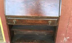 Oak bureau of small proportions from England A lovely