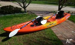 Great 2-3 person Sit-on-Top kayak. VGC. Can be set up