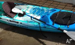 Ocean Prowler 13 Kayak with very comfy seat, paddle,