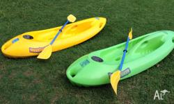 2 x Kids Yaks made by Ocean River New Zealand Good