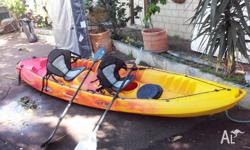 This is a beautiful family kayak..sits 3 adults easily