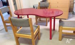 odern IKEA HISSMON DINING TABLE+ 4 chairs, delivery