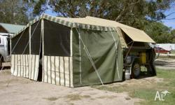 Cameron Canvas Off-road Camper trailer with 9' tent and