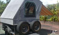 Fully Australian made PBL off road trailer with camper