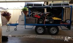 REDUCED. For Sale 1.7x2.9m 4wd off road trailer, great