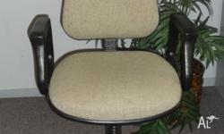 Office chair, upholstered (good condition), with gas