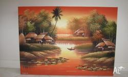beautiful oil painting asian scenary 705x510 new $45