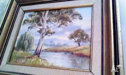 Beautiful oil painting of Australian outback by Sydney