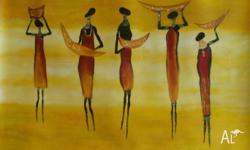 African paintaings from renowned artists on sale. I