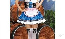 Brand new Oktoberfest Beer Maid dress with detailed