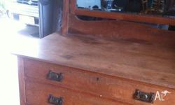 OLD DRESSER...Oak, great for shabby chic or to restore