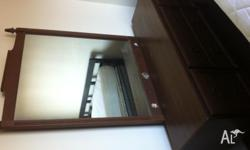 Old Dressing table/drawers with large mirror. Some