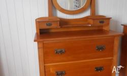 For sale is this beautiful Silky Oak Dressing table. It