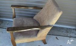 old single lounge chair suit resto, built 1940,s