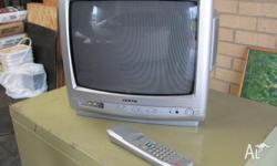 old teac tv. about 35cm. still works. email if