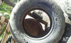 Old tractor tyre,was being used as garden feature,