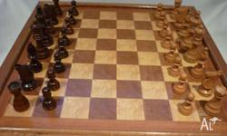 Large Older Vintage Wooden Combination Chests, Draughts