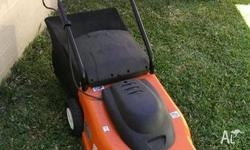 Great European electric lawn mower. Excellent
