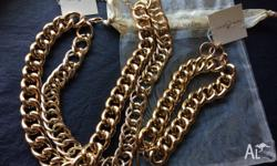 **Olivia Welles - Double Gold Chain + Matching Double