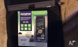 The Olympus WS833 is a high end digital voice recorder