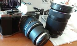 OLYMPUS OMD EM 5 - AS NEW NO MARKS NO SCRATCHES WITH 2