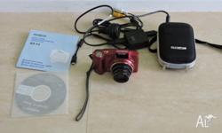 Olympus SZ-14 digital camera in as new condition. 14